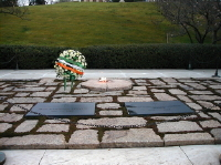Graves of President and Jacqueline Kennedy